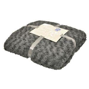 VADIGRAN Couverture fleece Modern pour chien gris foncé 100 x 150cm