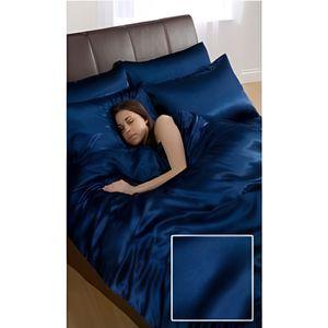 parure de lit satin achat vente parure de lit satin pas cher cdiscount. Black Bedroom Furniture Sets. Home Design Ideas