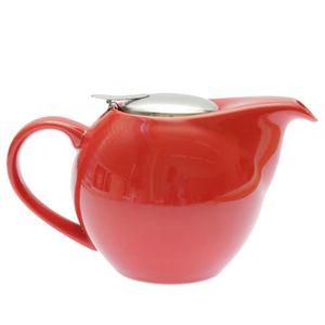 CAFETIÈRE - THÉIÈRE Théière boule rouge céramique