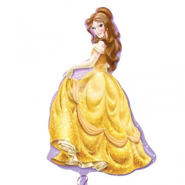 Ballon alu forme de princesse belle la belle et la b te 60x99 cm achat vente ballon - La belle princesse ...