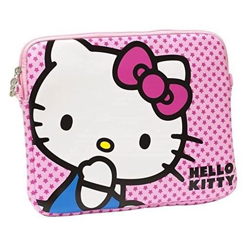 bagages sacs maroquinerie sacoche hello kitty pour tablettes  a pouces f big