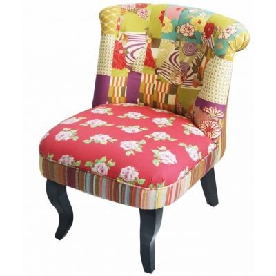 Fauteuil crapaud chambord patchwork achat vente fauteuil cdiscount - Fauteuil crapaud patchwork ...