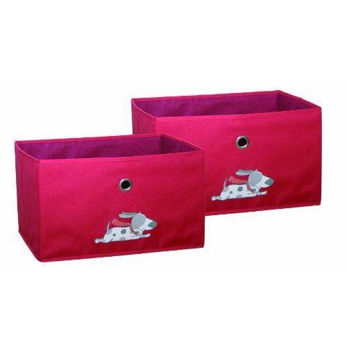Roba 53204 e1 rot bo tes en toile rouge achat for Maison rouge boite de nuit