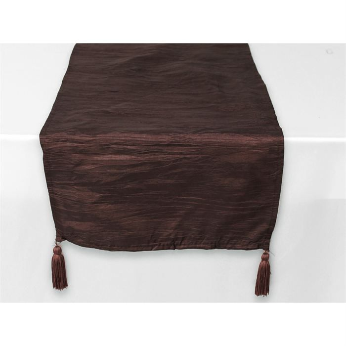 Chemin de table rectangle 40x140cm bambou chocolat achat for Chemin de table bambou
