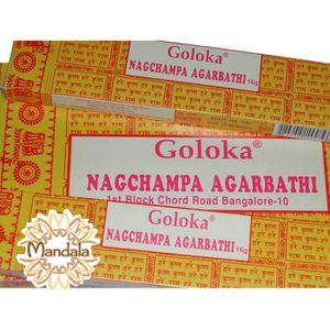ENCENS Encens GOLOKA NAG CHAMPA Lot de 12 Boites de 16G
