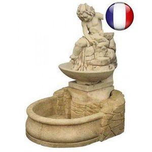 Fontaine de jardin en pierre achat vente fontaine de for Statue jardin pas cher