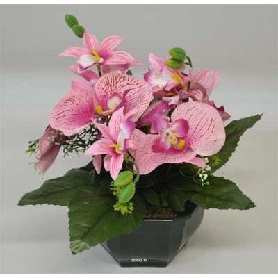 composition rose vasque orchidee artificielle l achat vente fleur artificielle s ch e. Black Bedroom Furniture Sets. Home Design Ideas