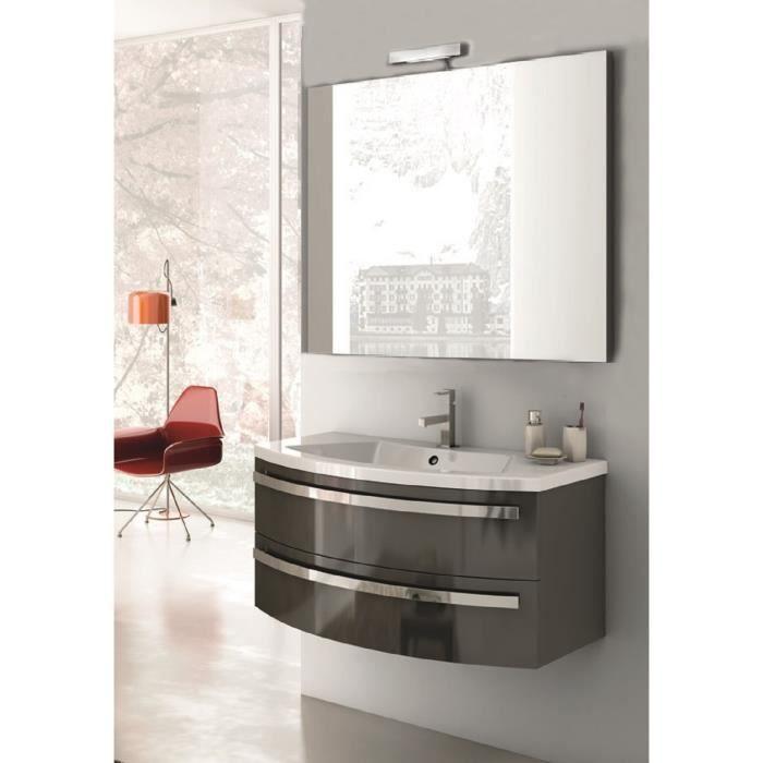 Acilia meuble pour salle de bains avec vier et miroir for Evier salle de bain avec meuble
