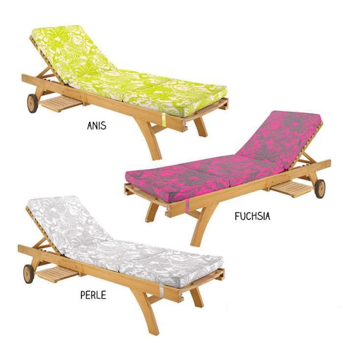 matelas bain de soleil 55 x 170 cm tropicalia perle achat vente chaise longue matelas. Black Bedroom Furniture Sets. Home Design Ideas