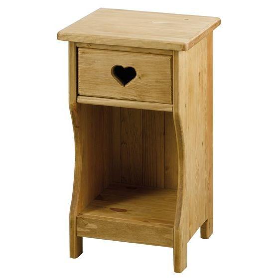 chevet rustique avec coeur 1 tiroir 1 niche achat vente chevet chevet rustique avec c ur. Black Bedroom Furniture Sets. Home Design Ideas