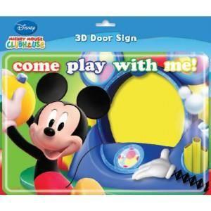 Plaque de porte 3d la maison de mickey achat vente for Voir sa maison en 3d