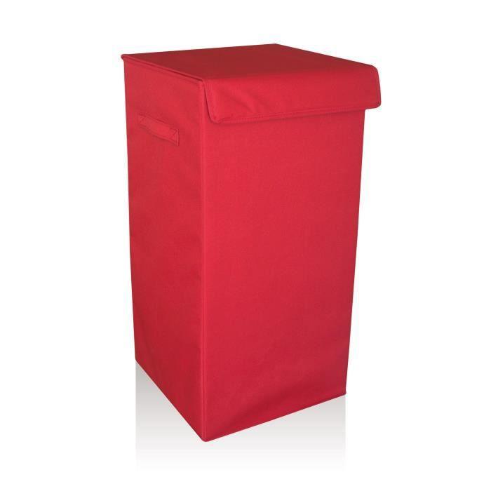 coffre linge rouge achat vente panier a linge coffre linge rouge soldes cdiscount. Black Bedroom Furniture Sets. Home Design Ideas