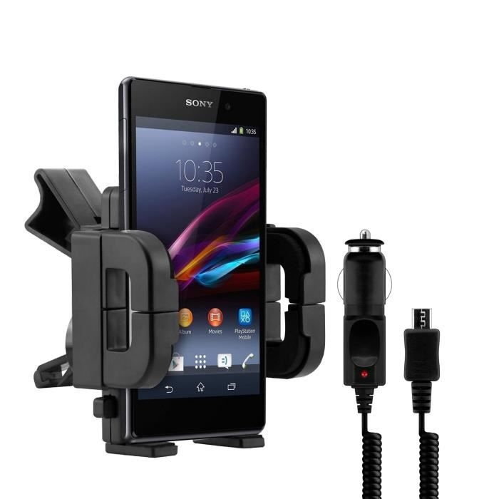support auto chargeur voiture sony xperia z l36h achat. Black Bedroom Furniture Sets. Home Design Ideas