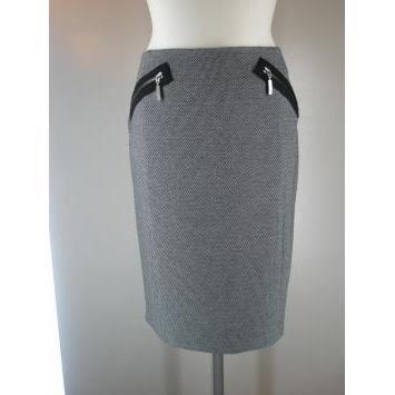 jupe droite a carreaux concept k gris achat vente jupe kilt cdiscount. Black Bedroom Furniture Sets. Home Design Ideas