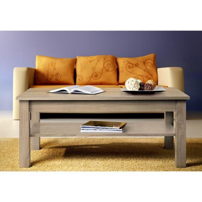 Paris prix table basse rectangulaire uni 110cm ch ne for Table basse petit prix