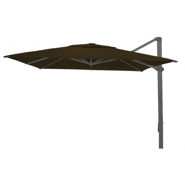 parasol d port carr taupe anti uv 400x400 cm achat vente parasol parasol d port carr. Black Bedroom Furniture Sets. Home Design Ideas