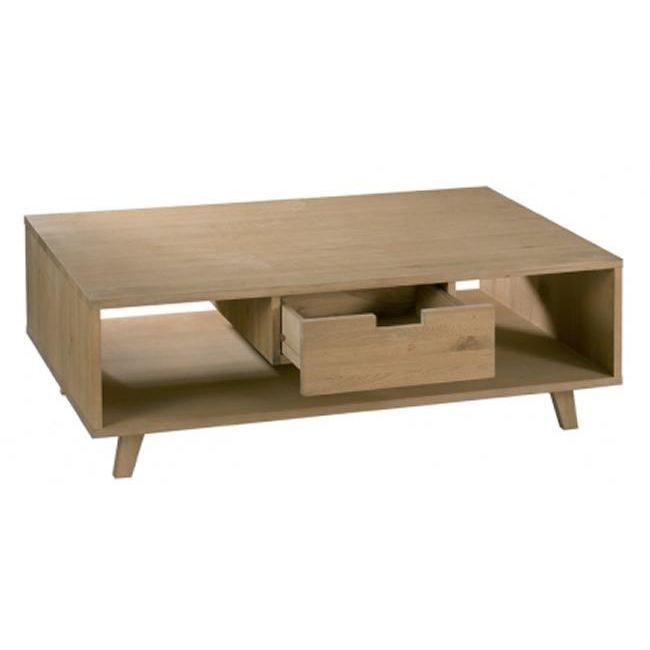 Table basse rectangulaire en ch ne massif 115x7 achat - Table basse 40 cm largeur ...