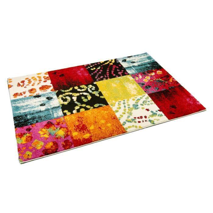 Tapis salon bonita patchwork multicolore universol achat for Salon patchwork