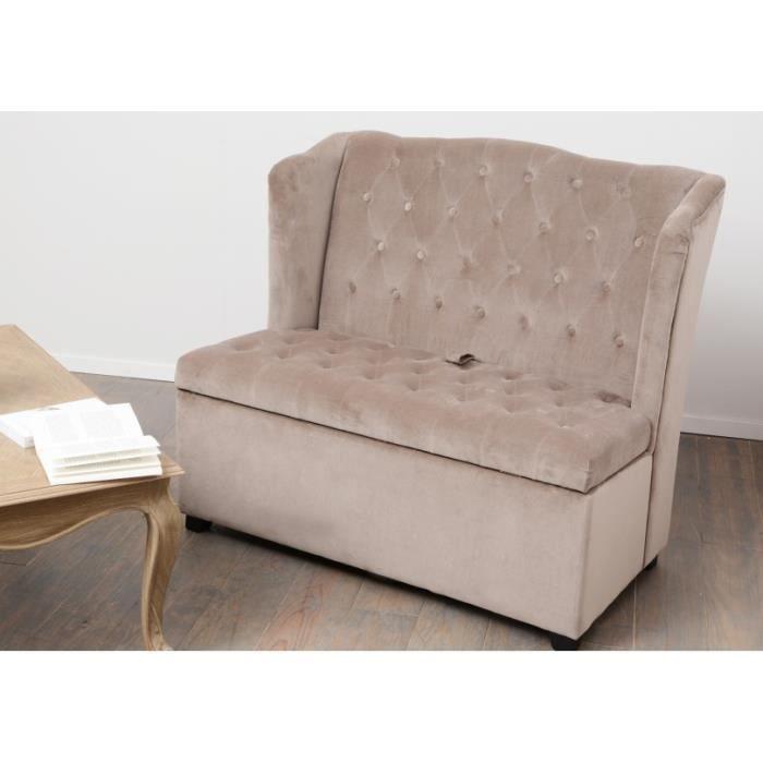banquette coffre taupe amadeus achat vente banquette. Black Bedroom Furniture Sets. Home Design Ideas