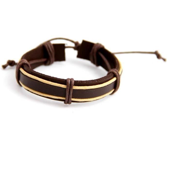 Robes feminines bracelet cuir homme pas cher for Porte bracelet pas cher