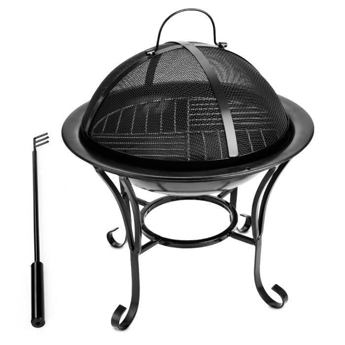 grill barbecue chauffage gaz charbon set po le grill couvercle poign e achat vente. Black Bedroom Furniture Sets. Home Design Ideas