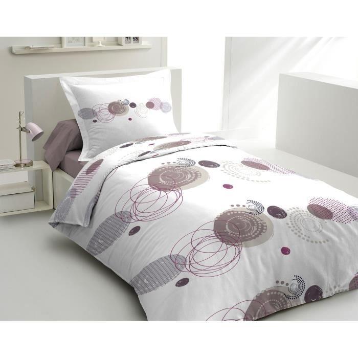 lovely home parure de couette min ral 1 housse de. Black Bedroom Furniture Sets. Home Design Ideas