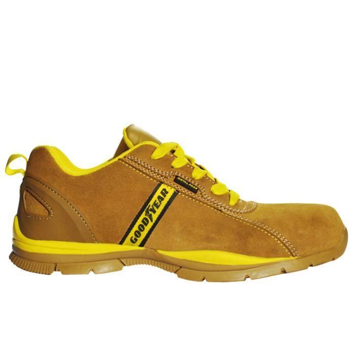 Chaussure de securite beige jaune goodyearnouveaut sur cotepro arrivage de chaussures de - Chaussure de securite goodyear ...