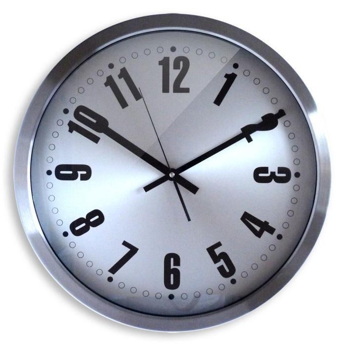 Horloge futura 45cm orium 11674 achat vente horloge alu cdiscount - Horloge orium led bleue ...