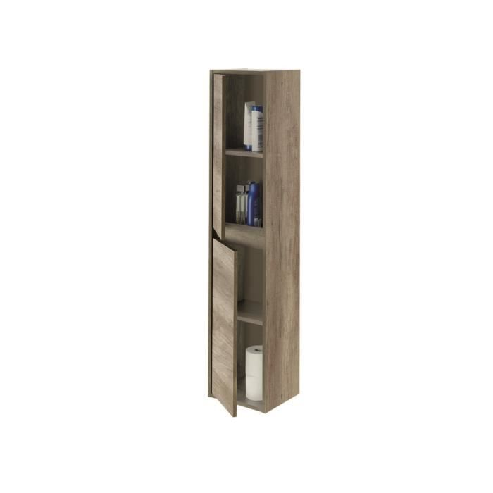colonne salle de bain suspendue 2 portes nordik 140 x 30. Black Bedroom Furniture Sets. Home Design Ideas