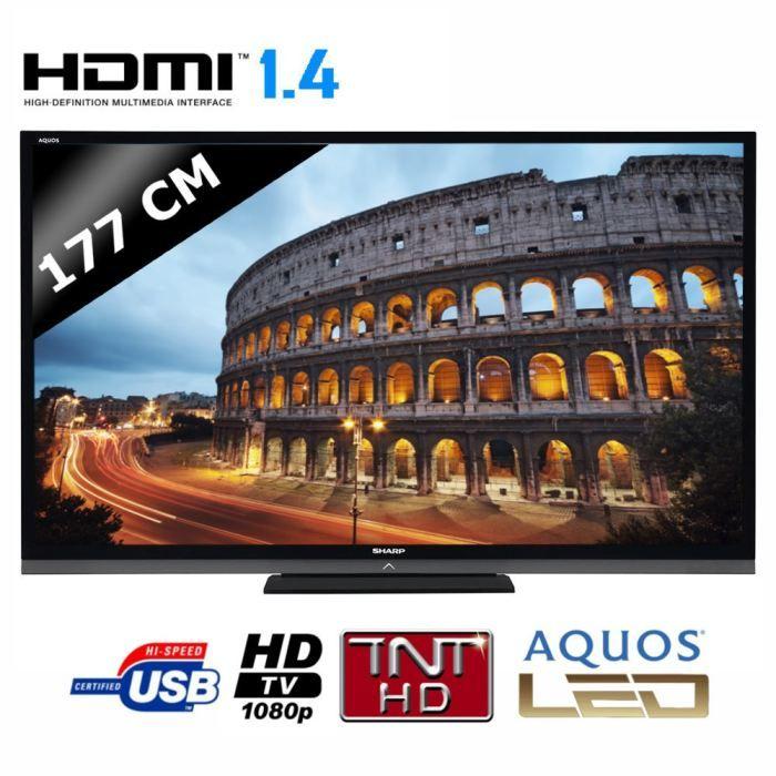 sharp 70le740 tv 3d 177 cm t l viseur led avis et prix pas cher soldes cdiscount. Black Bedroom Furniture Sets. Home Design Ideas