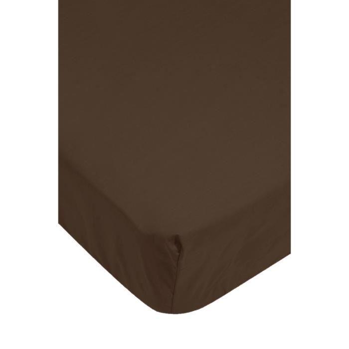 drap housse taupe achat vente drap housse cdiscount. Black Bedroom Furniture Sets. Home Design Ideas