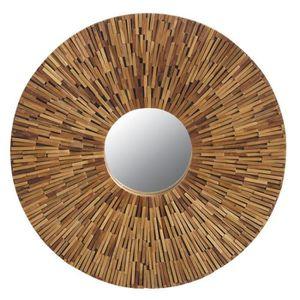 Miroir rond bois achat vente miroir rond bois pas cher for Miroir rond bois