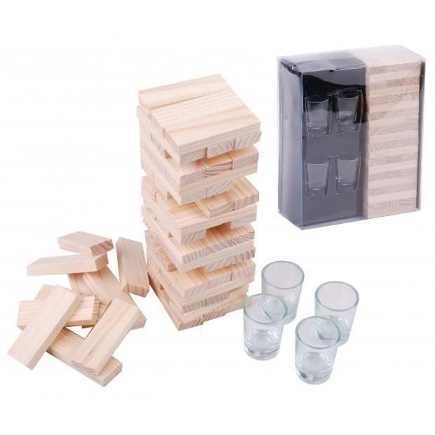 jeu boire 4 shooters tipsy tower achat vente table multi jeux cdiscount. Black Bedroom Furniture Sets. Home Design Ideas