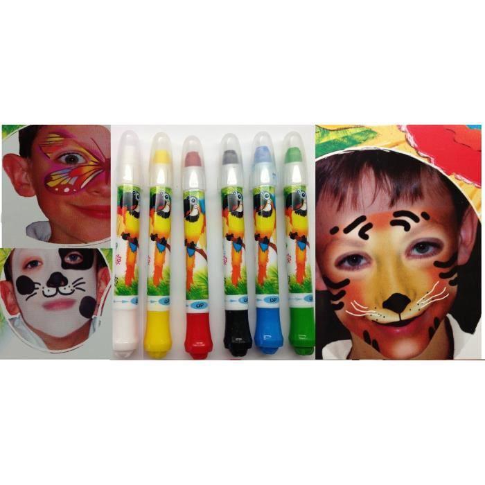 peinture visage maquillage enfant 6 couleurs achat vente maquillage peinture visage. Black Bedroom Furniture Sets. Home Design Ideas