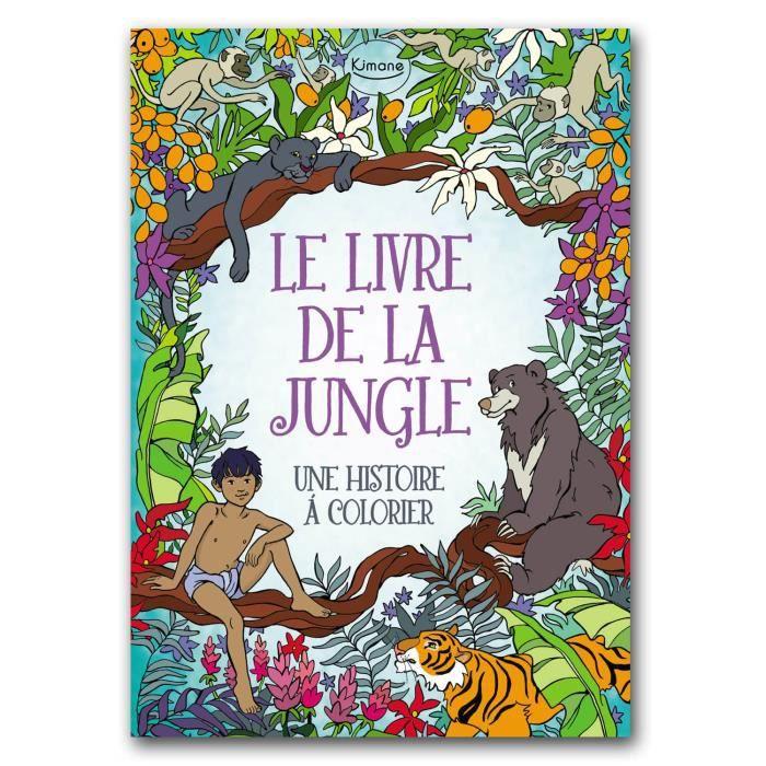 livre de coloriage le livre de la jungle aille unique coloris unique achat vente jeu de. Black Bedroom Furniture Sets. Home Design Ideas