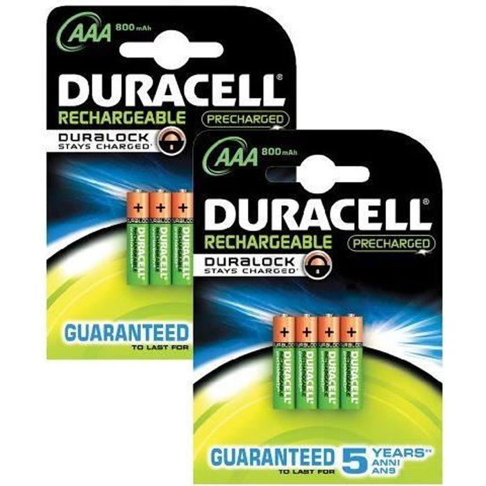 duracell aaa pre charged pile rechargeable pack achat vente piles cdiscount. Black Bedroom Furniture Sets. Home Design Ideas