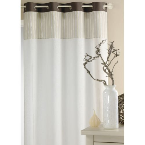 rideau avec parement rayures lin 140 x 260cm achat vente rideau voilage cdiscount. Black Bedroom Furniture Sets. Home Design Ideas