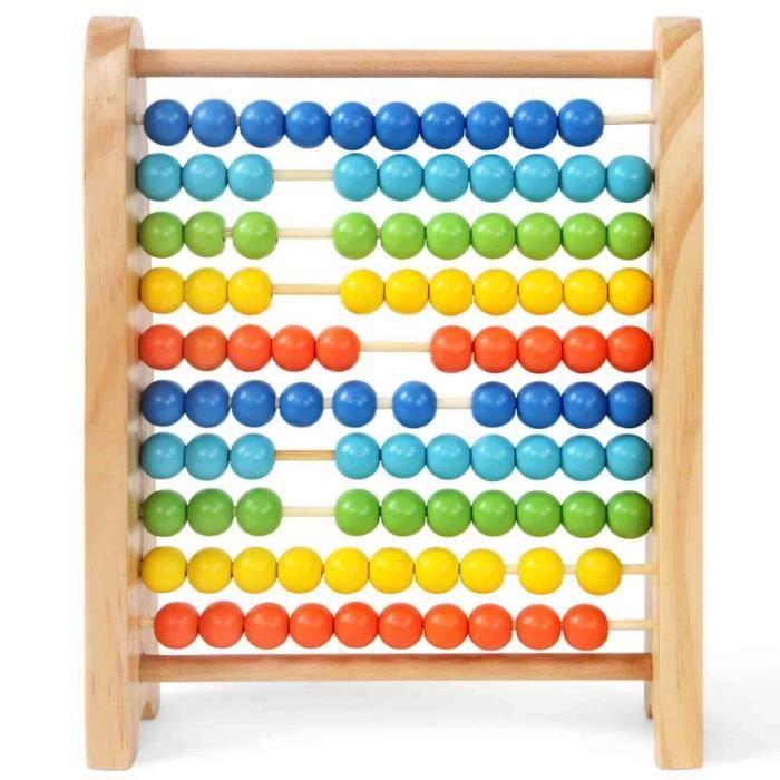 boulier avec 100 boules multicolores achat vente boulier cdiscount. Black Bedroom Furniture Sets. Home Design Ideas