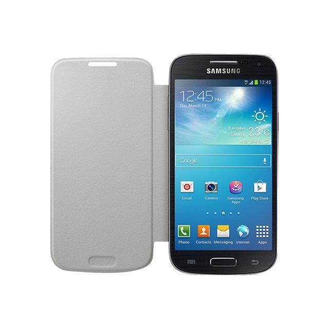 Etui housse galaxy s4 mini i9195 flip cover achat for Housse samsung galaxy s4 mini