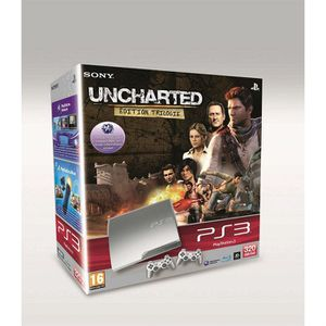 CONSOLE PS3 PACK PS3 320 GO SILVER + UNCHARTED TRILOGY
