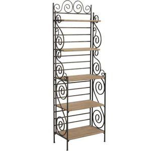 etagere fer et bois achat vente etagere fer et bois pas cher cdiscount. Black Bedroom Furniture Sets. Home Design Ideas