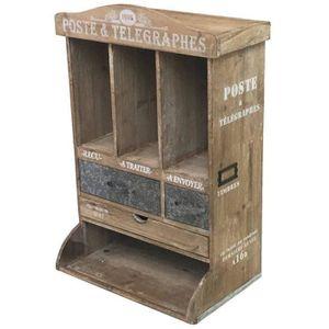 boite aux lettres en bois achat vente boite aux lettres en bois pas cher cdiscount. Black Bedroom Furniture Sets. Home Design Ideas