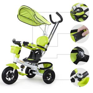 fascol poussette tricycle pour b b kids randonn es v lo pour enfant avec tois roues chargeur. Black Bedroom Furniture Sets. Home Design Ideas