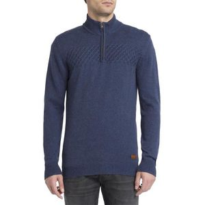 PULL WRANGLER - Pull Col Camionneur Marine pour homme
