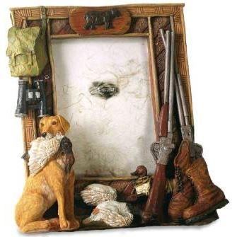 Cadre photo chien de chasse poser achat vente cadre for Decoration maison chasse