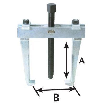 Extracteur int rieur ext rieur 160x150 mm 2 griffe achat for Extracteur roulement interieur