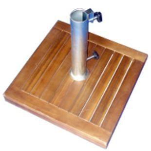 pied de parasol en bois exotique achat vente parasol ombrage pied de parasol en bois. Black Bedroom Furniture Sets. Home Design Ideas