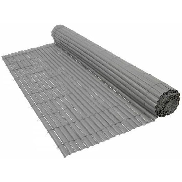 canisse pvc gris 1 x 3 m brise vue achat vente cl ture grillage canisse pvc gris 1 x 3 m. Black Bedroom Furniture Sets. Home Design Ideas