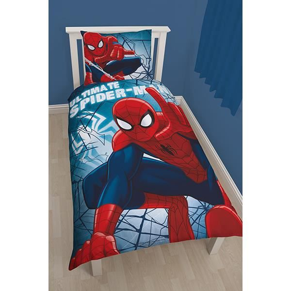 parure de lit spiderman crawler achat vente parure. Black Bedroom Furniture Sets. Home Design Ideas
