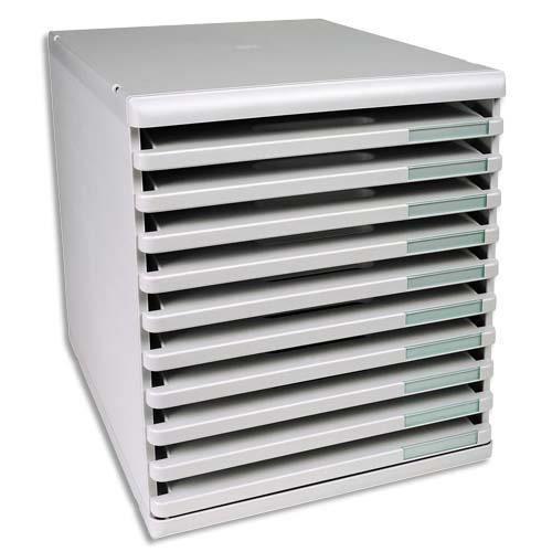 exacompta module de classement 10 tiroirs ouver achat vente meuble classement exacompta. Black Bedroom Furniture Sets. Home Design Ideas